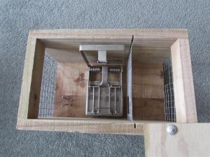 Complete trap box with DOC200 style zinc/stainless steel trap mechanism